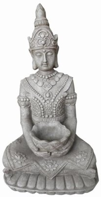Buddha Statue Kwan Yin (sitting with scale, height 66 cm)