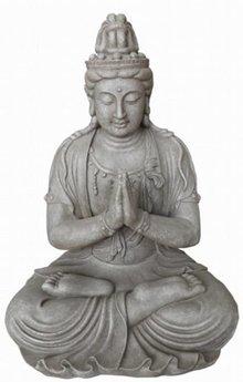 Buddha statue Kwan Yin (siddende, 59 cm høj)