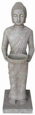 Boeddhabeeld met schaal (staand, 100 cm hoog)