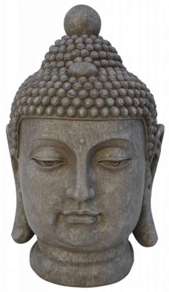 buddha huvud staty
