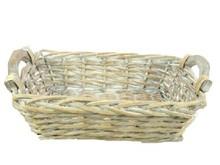 Lifestyle collectie │ Wicker basket / multibak 'Sofia' (dimensions 40 x 30 x 12 cm)