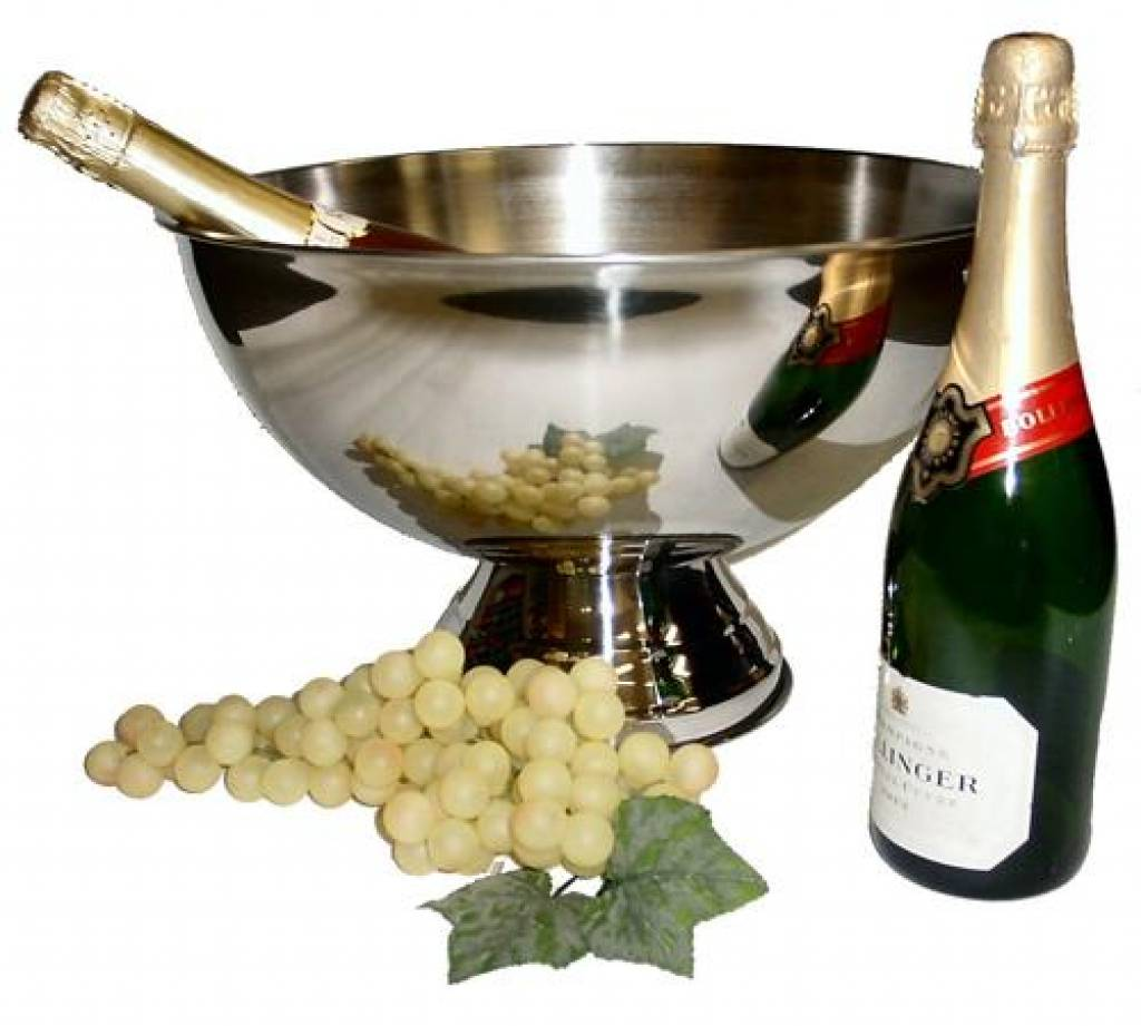 Grote chique rvs champagnekoeler 380 x 250 mm goods and gifts relatiegeschenken goedkope - Chique campagne ...