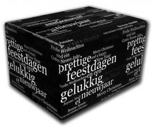 Jul kasser og gaveæsker i forskellige størrelser (dobbelt bølgepap)