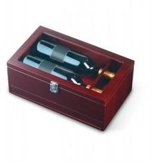 Wijnkist 'Quality Time' (rood kersenhout)
