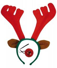 Cheap reindeer headband with a luminous nose