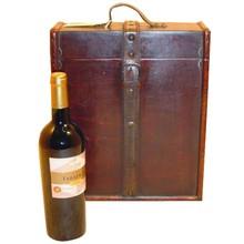 Koloniale houten wijnkisten Laurens 3-vaks (afmeting 307 x 130 x 360 mm)