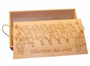 Luxe 6-vaks Wijnkisten met een voorbedrukt deksel kopen?