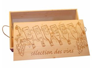 Luxury 6-bin wine crates buy a preprinted cover?