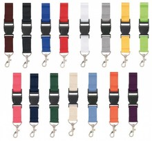 Lanyards (with carabiner and clip closure, ribbon width 2.5 cm)
