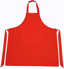 Buy Cheap Red Kitchen Aprons? Professional red kitchen aprons (size 75 x 85 cm, material 65% polyester / 35% cotton))