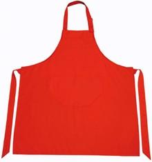Goedkope rode Keukenschorten kopen? Professionele rode keukenschorten (afmeting 75 x 85 cm, materiaal 65% polyester/35% katoen))