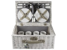 "Lifestyle collectie │ Евтини пикник кошници ""Liedewei"" (включително посуда и прибори за 4-ма)"