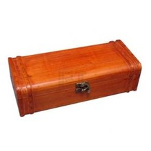 Beautiful luxury brown wine boxes 1-compartment with hinged lid
