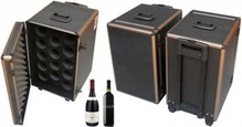 Luxury travel case for wine (trolley) with wheels