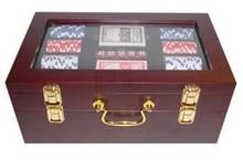 Луксозни недвижими покер кутия за 2 бутилки вино (включително покер)