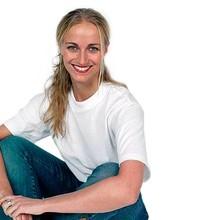 Billige hvide unisex T-shirts (100% bomuld) med korte ærmer og rund hals