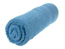 Goedkope grote lichtblauwe baddoeken (70 x 140 cm) kopen?