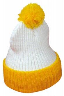 Евтини жълто-бял Pom Pom шапки купя?