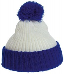 Евтини синьо и бяло Pom Pom бебе шапки купя?
