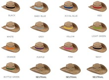 buy cheap Stohoeden? Straw hats with a colored band