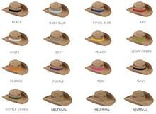 købe billige Stohoeden? Halm hatte med en farvet bånd