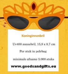 Orange Queens Briller med krone (især for kvinder)