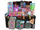Large luxury wooden Grabbeldagen Chest with bulletin presents (for children aged 3 to 8)