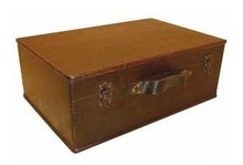 Colonial wooden brown boxes (medium size, size 420 x 280 x 160 mm)