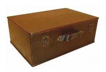 Koloniale houten bruine kisten (middelgroot model, afmeting 420 x 280 x 160 mm)