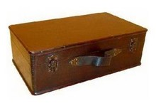 Colonial wooden brown boxes (medium-small version, size 370 x 220 x 130 mm)