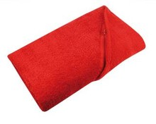 Billige røde badehåndklæder (str. 100 x 180 cm)