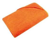 Billige Orange badehåndklæder (100% bomuld, frotté, størrelse 100 x 180 cm)