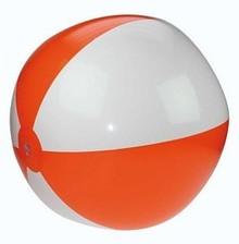 Opblaasbare strandballen met oranje en witte banen (21 inch)
