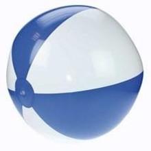 Opblaasbare strandballen met blauw en witte banen (21 inch)