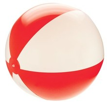 Inflatable beach balls with red and white stripes (21 inch)