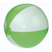 Inflatable beach balls with green and white stripes (21 inch)