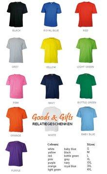 Uniseks T-shirts met ronde hals en korte mouw (100% katoen)