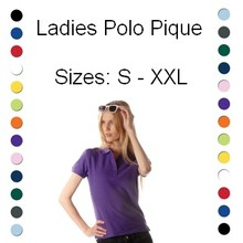 100% cotton ladies Polo (polo pique)