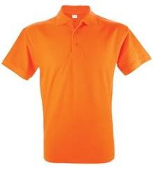 Oranje heren (polo pique) Poloshirts (leverbaar in de maten S t/m XXL)
