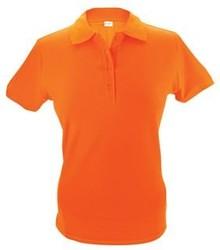 Oranje dames (polo pique) Poloshirts (leverbaar in de maten S t/m XXL)