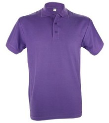 Paarse heren (polo pique) Poloshirts (leverbaar in de maten S t/m XXL)