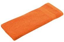 Orange frotté gæst håndklæder (størrelse 30 x 50 cm)