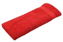 Rød frotté gæst håndklæder (størrelse 30 x 50 cm)