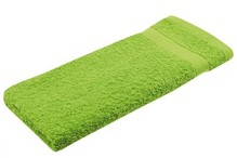 Light green terry guest towels (size 30 x 50 cm)