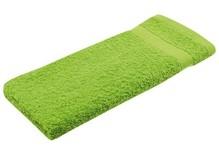 Lysegrøn frotté gæst håndklæder (størrelse 30 x 50 cm)