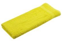 Gul frotté gæst håndklæder (størrelse 30 x 50 cm)