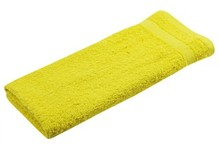 Yellow terry guest towels (size 30 x 50 cm)