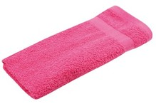 Pink terry guest towels (size 30 x 50 cm)