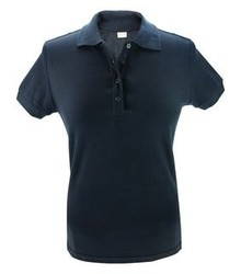 Donkerblauwe dames (polo pique) Poloshirts (leverbaar in de maten S t/m XXL)