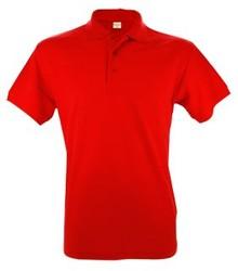 Rode heren (polo pique) Poloshirts kopen? Leverbaar in de maten S t/m XXL